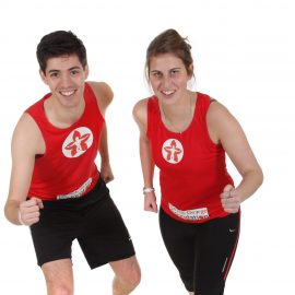 Red Running Vest with white RGF logo in centre