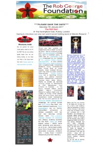 Rob George Foundation Newsletter Summer 2016