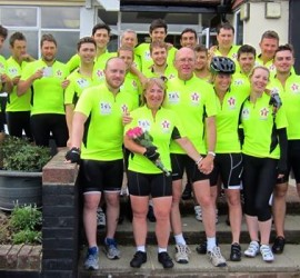 Rob George Foundation Paris to Colchester cycle ride