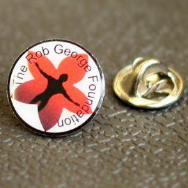 Rob George Foundation lapel pin