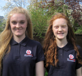 Charlotte and Katie Bennett, supported by the RGF