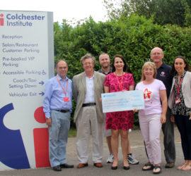 The RGF is Colchester Institute's Charity of the Year