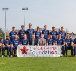 Essex County Cricket Club supports the Rob George Foundation