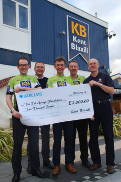Kent Blaxill Bike Ride in support of RGF