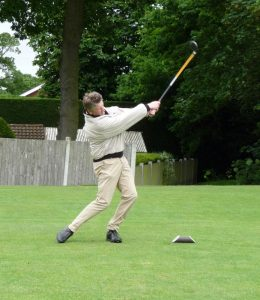 Golfer at the RGF Golf Day June 2016