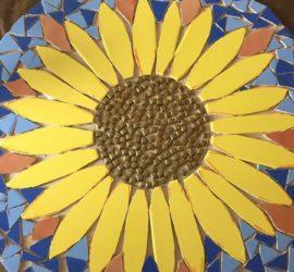 Amy's Art - sunflower table