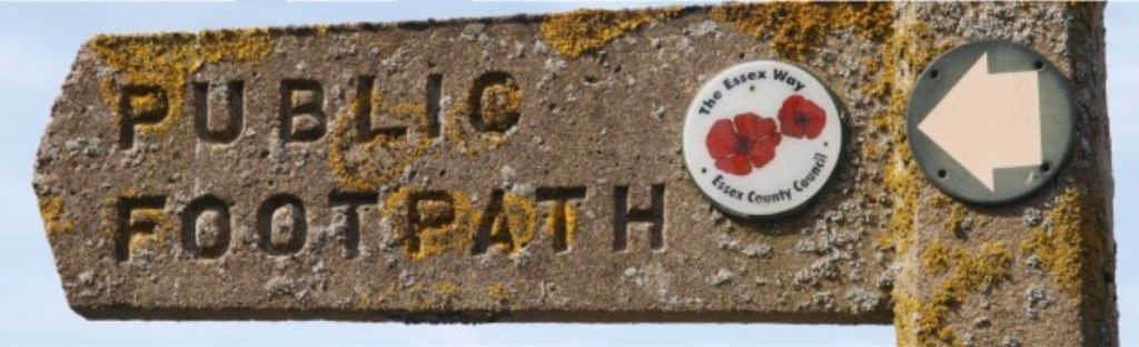 Public footpath. sign