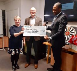 Cheque presented by Colchester Round Table 367