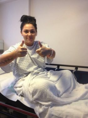 Kate showing thumbs up sign