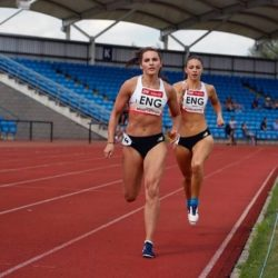 Lucy Turner, running on track