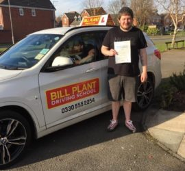 Shaun passes his driving test