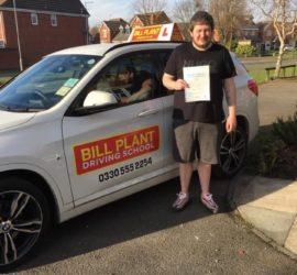 Shaun passes his driving test