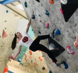 Thea Cameron climbing wall