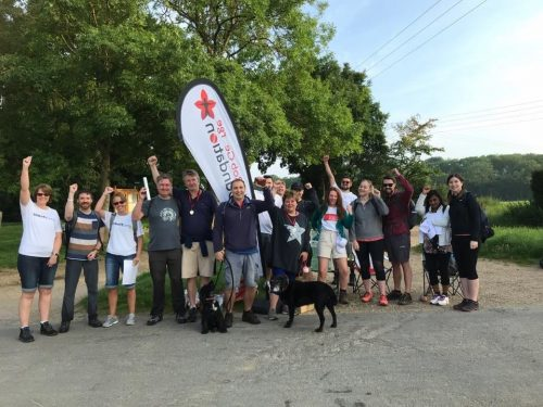 Walkers from Robs big walk 2019