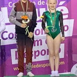 Fionnuala on winners podium