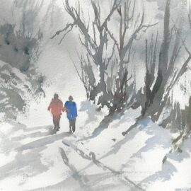 Christmas Card, Snowscene